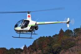 ブルーさんさんが、静岡ヘリポートで撮影したつくば航空 R22 Beta IIの航空フォト(飛行機 写真・画像)