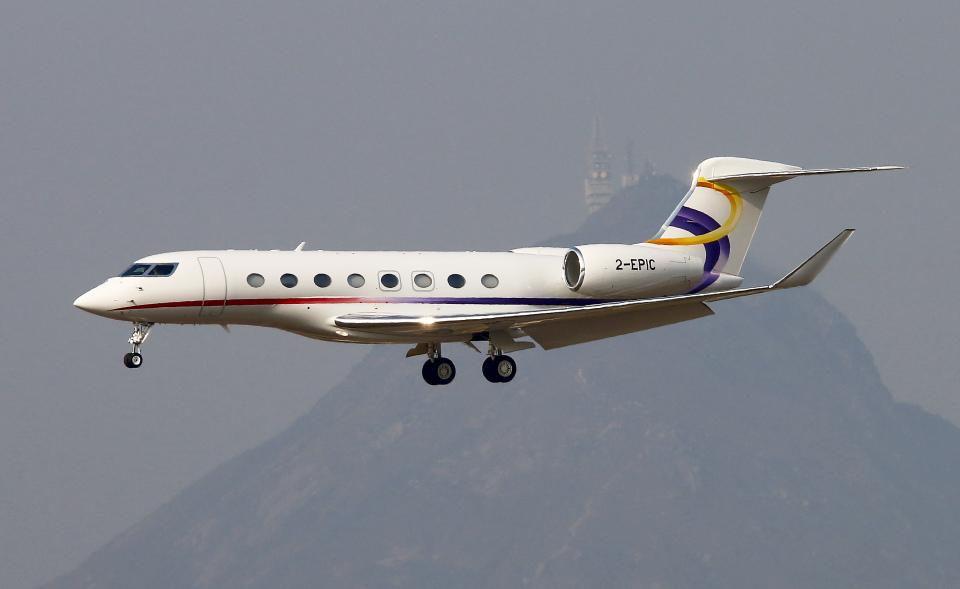 Asamaさんの金鹿航空 Gulfstream G650 (G-VI) (2-EPIC) 航空フォト