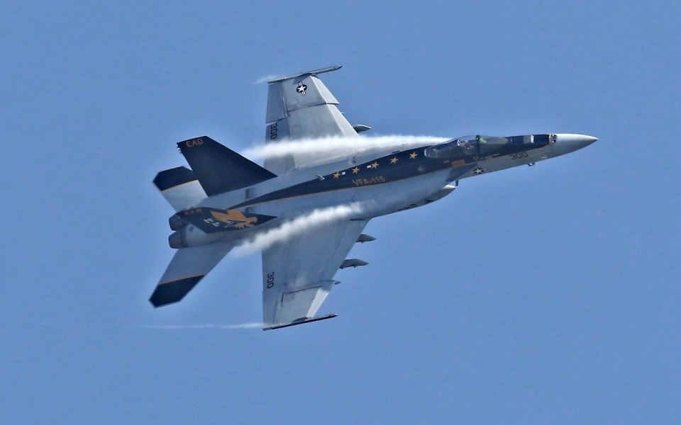 isiさんのアメリカ海軍 Boeing F/A-18 (VFA-27) 航空フォト