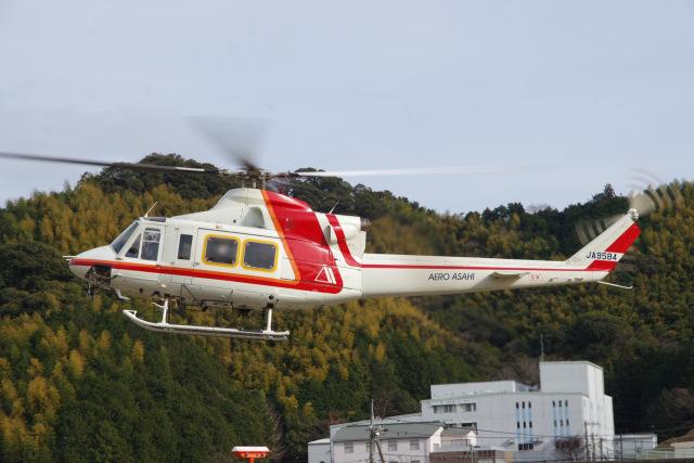 ラムさんが、静岡ヘリポートで撮影した朝日航洋 412の航空フォト(飛行機 写真・画像)