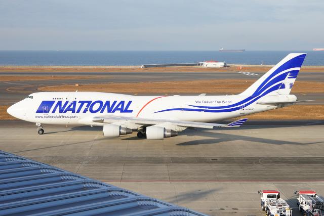 Mar Changさんが、中部国際空港で撮影したナショナル・エアラインズ 747-412(BCF)の航空フォト(飛行機 写真・画像)