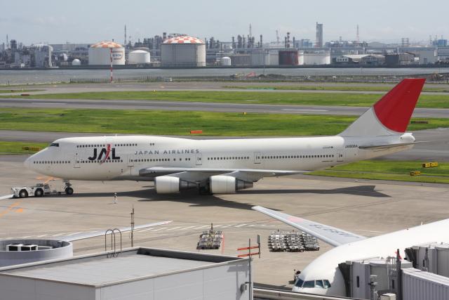 wunalaさんが、羽田空港で撮影した日本航空 747-446Dの航空フォト(飛行機 写真・画像)