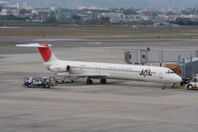 wunalaさんが、伊丹空港で撮影した日本航空 MD-81 (DC-9-81)の航空フォト(飛行機 写真・画像)