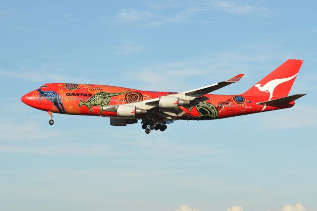 Deepさんが、成田国際空港で撮影したカンタス航空 747-438/ERの航空フォト(飛行機 写真・画像)