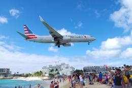 zettaishinさんが、プリンセス・ジュリアナ国際空港で撮影したアメリカン航空 737-823の航空フォト(飛行機 写真・画像)