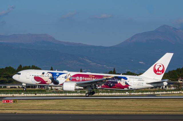 N@ruさんが、鹿児島空港で撮影した日本航空 767-346/ERの航空フォト(飛行機 写真・画像)