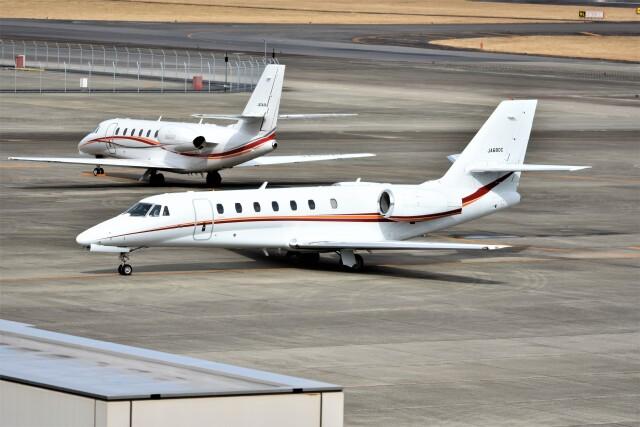 MSN/PFさんが、名古屋飛行場で撮影した朝日航洋 680 Citation Sovereignの航空フォト(飛行機 写真・画像)