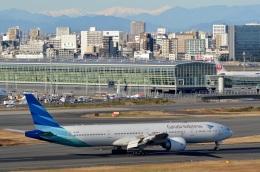 h_wajyaさんが、羽田空港で撮影したガルーダ・インドネシア航空 777-3U3/ERの航空フォト(飛行機 写真・画像)