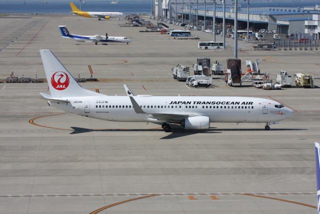 wunalaさんが、中部国際空港で撮影した日本トランスオーシャン航空 737-8Q3の航空フォト(飛行機 写真・画像)