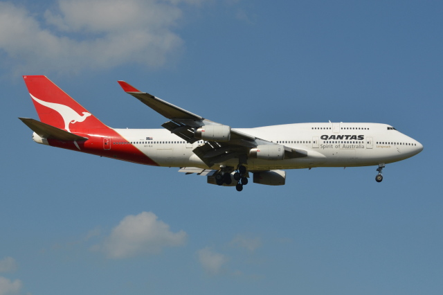 Deepさんが、成田国際空港で撮影したカンタス航空 747-438の航空フォト(飛行機 写真・画像)