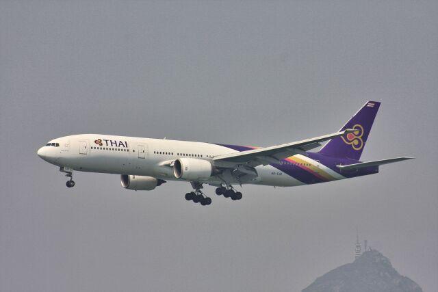 wunalaさんが、香港国際空港で撮影したタイ国際航空 777-2D7の航空フォト(飛行機 写真・画像)