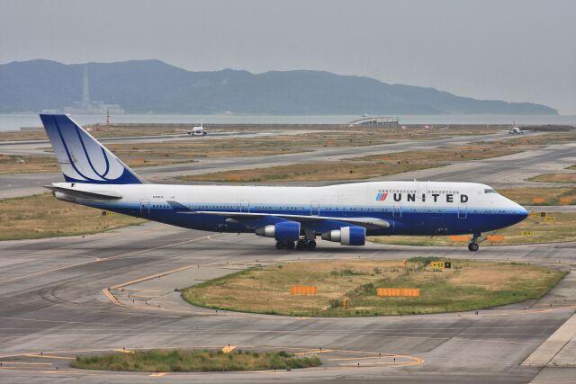 wunalaさんが、関西国際空港で撮影したユナイテッド航空 747-422の航空フォト(飛行機 写真・画像)