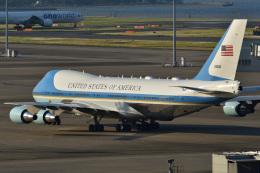 しまb747さんが、羽田空港で撮影したアメリカ空軍 VC-25A (747-2G4B)の航空フォト(飛行機 写真・画像)