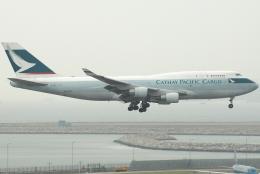 jun☆さんが、香港国際空港で撮影したキャセイパシフィック航空 747-412(BCF)の航空フォト(飛行機 写真・画像)