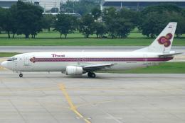 jun☆さんが、ドンムアン空港で撮影したタイ国際航空 737-4D7の航空フォト(飛行機 写真・画像)