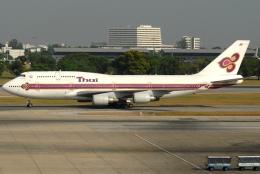 jun☆さんが、ドンムアン空港で撮影したタイ国際航空 747-4D7の航空フォト(飛行機 写真・画像)