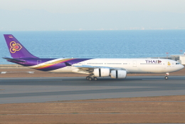 jun☆さんが、中部国際空港で撮影したタイ国際航空 A340-541の航空フォト(飛行機 写真・画像)
