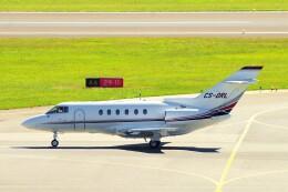 ちっとろむさんが、ウィーン国際空港で撮影したネットジェッツ・エイビエーション Hawker 800の航空フォト(飛行機 写真・画像)