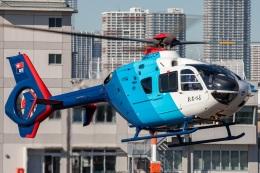 T spotterさんが、東京ヘリポートで撮影した中日新聞社 EC135P2の航空フォト(飛行機 写真・画像)