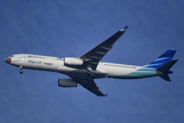 ほたるいかさんが、関西国際空港で撮影したガルーダ・インドネシア航空 A330-343Xの航空フォト(飛行機 写真・画像)
