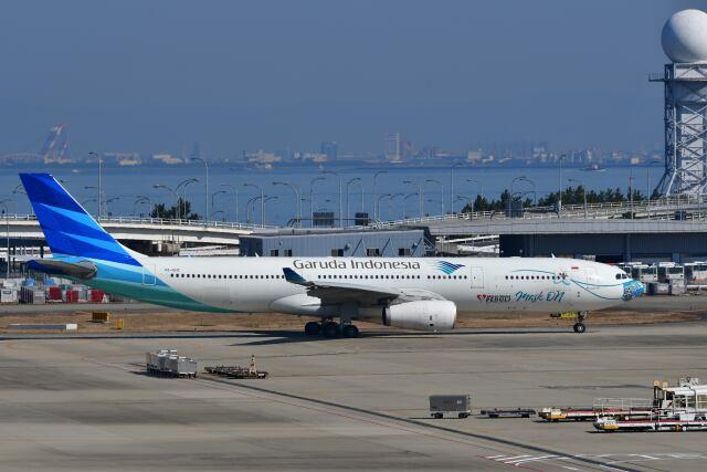 天心さんが、関西国際空港で撮影したガルーダ・インドネシア航空 A330-343Xの航空フォト(飛行機 写真・画像)