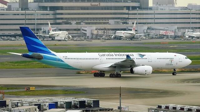 mich_stoneさんが、羽田空港で撮影したガルーダ・インドネシア航空 A330-343Xの航空フォト(飛行機 写真・画像)
