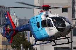 きりしまさんが、東京ヘリポートで撮影した中日新聞社 EC135P2の航空フォト(飛行機 写真・画像)