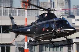 きりしまさんが、東京ヘリポートで撮影した警視庁 A109S Trekkerの航空フォト(飛行機 写真・画像)