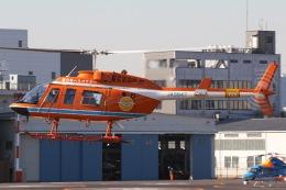 きりしまさんが、東京ヘリポートで撮影した新日本ヘリコプター 206L-3 LongRanger IIIの航空フォト(飛行機 写真・画像)