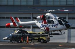 チャーリーマイクさんが、東京ヘリポートで撮影した朝日航洋 MD-900 Explorerの航空フォト(飛行機 写真・画像)