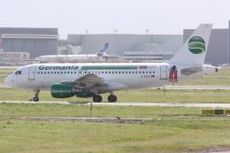 kinsanさんが、トゥールーズ・ブラニャック空港で撮影したゲルマニア A319-112の航空フォト(飛行機 写真・画像)