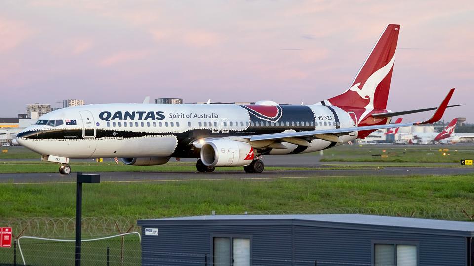 FlyingMonkeyさんのカンタス航空 Boeing 737-800 (VH-XZJ) 航空フォト