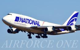 AIRFORCE ONEさんが、成田国際空港で撮影したナショナル・エアラインズ 747-412(BCF)の航空フォト(飛行機 写真・画像)