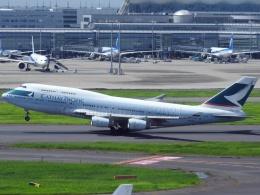 しまb747さんが、羽田空港で撮影したキャセイパシフィック航空 747-467の航空フォト(飛行機 写真・画像)