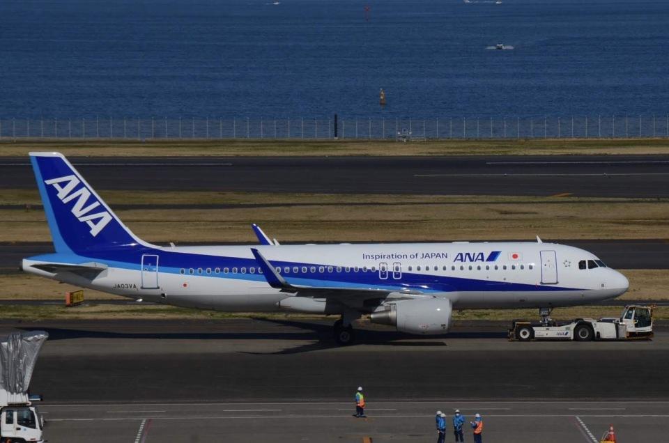とりぷるせぶん/大和路鐵さんの全日空 Airbus A320 (JA03VA) 航空フォト