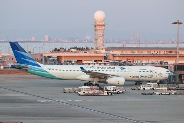 singapore346さんが、関西国際空港で撮影したガルーダ・インドネシア航空 A330-343Xの航空フォト(飛行機 写真・画像)