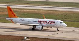 spottingvehicleさんが、サビハ・ギョクチェン国際空港で撮影したペガサス・エアラインズ A320-214の航空フォト(飛行機 写真・画像)