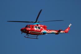 桃太郎LINEさんが、岡山空港で撮影した岡山県消防防災航空隊 412EPの航空フォト(飛行機 写真・画像)