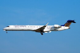 ちっとろむさんが、フランクフルト国際空港で撮影したルフトハンザ・シティライン CL-600-2D24 Regional Jet CRJ-900LRの航空フォト(飛行機 写真・画像)
