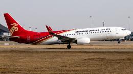 Shotaroさんが、南昌昌北国際空港で撮影した深圳航空 737-87Lの航空フォト(飛行機 写真・画像)