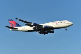 ポン太さんが、成田国際空港で撮影したデルタ航空 747-451の航空フォト(飛行機 写真・画像)