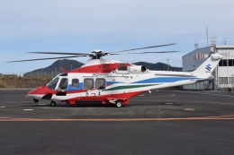 MOR1(新アカウント)さんが、枕崎ヘリポートで撮影した鹿児島県防災航空隊 AW139の航空フォト(飛行機 写真・画像)