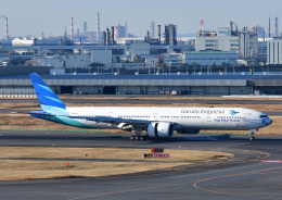 じーく。さんが、羽田空港で撮影したガルーダ・インドネシア航空 777-3U3/ERの航空フォト(飛行機 写真・画像)
