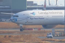多摩川崎2Kさんが、羽田空港で撮影したガルーダ・インドネシア航空 777-3U3/ERの航空フォト(飛行機 写真・画像)