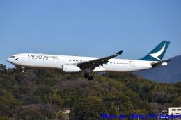 れんしさんが、福岡空港で撮影したキャセイパシフィック航空 A330-343Xの航空フォト(飛行機 写真・画像)