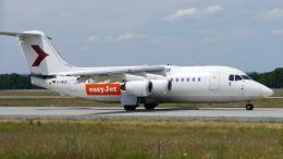 singapore346さんが、フランクフルト国際空港で撮影したイージージェット BAe-146-200の航空フォト(飛行機 写真・画像)