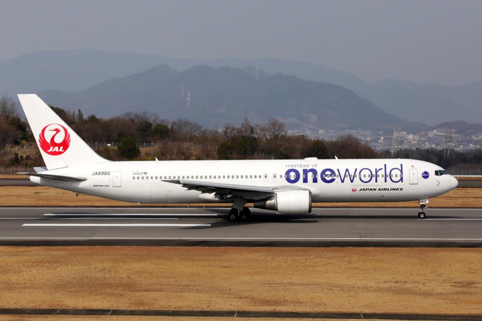 express999さんの日本航空 Boeing 767-300 (JA8980) 航空フォト