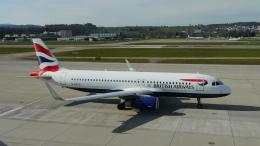singapore346さんが、チューリッヒ空港で撮影したブリティッシュ・エアウェイズ A320-232の航空フォト(飛行機 写真・画像)