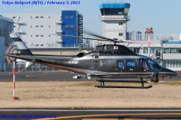 Chofu Spotter Ariaさんが、東京ヘリポートで撮影した警視庁 A109S Trekkerの航空フォト(飛行機 写真・画像)
