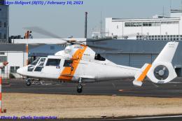 Chofu Spotter Ariaさんが、東京ヘリポートで撮影した東邦航空 SA365N1 Dauphin 2の航空フォト(飛行機 写真・画像)